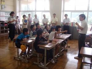 大子町立黒沢小学校での算数科研修会