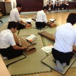 中学部男子生徒による琴の演奏