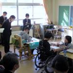 研究授業の様子(中学部「国語」)