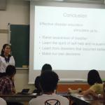 附属高等学校の生徒による英語のプレゼンテーション