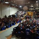 集まった約400名の現地の教育関係者