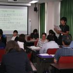 講習受講者と本校教員によるグループ協議
