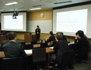 分科会3会場「筑波・UBC研修プログラム内容と事務局運営」の様子