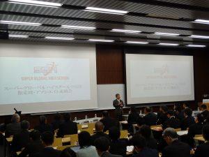 連絡会での、筑波大学附属学校教育局宮本信也教育長の挨拶